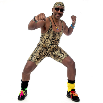 Mr Motivator in exercise pose